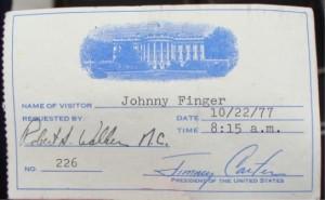White House 402, Finger 1977 pass